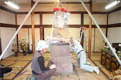 銭塚地蔵堂解体・再建工事