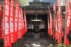 戦災後再建の銭塚地蔵堂(現再建工事解体前のお堂)