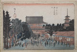 写真:東都名所浅草金龍山」に描かれた仁王門(現在の宝蔵門)