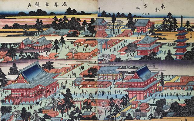 写真:絵馬「浅草寺境内図」