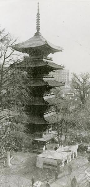 写真:旧五重塔の古写真