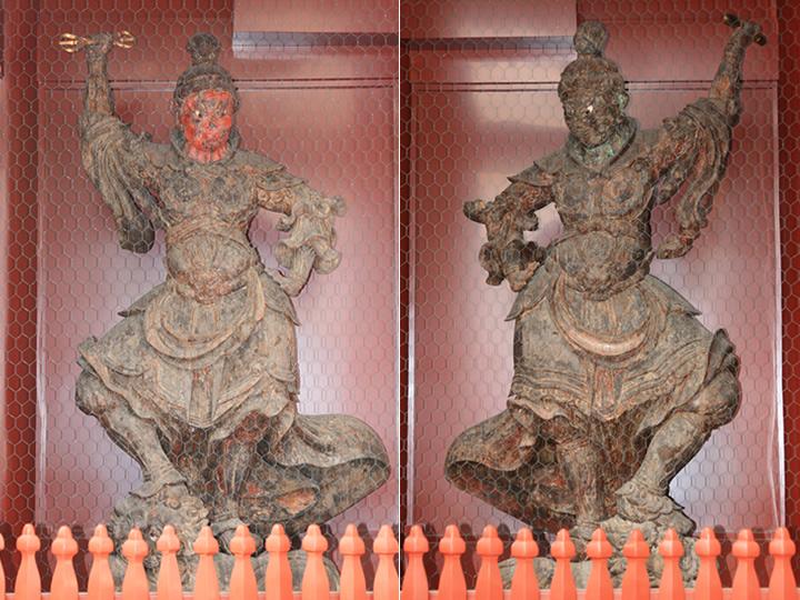 写真:増長天(左)と持国天(右)