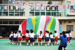 浅草寺幼稚園「うんどうかいごっこ」