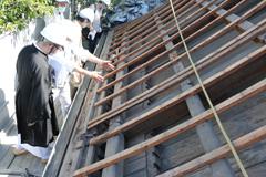 伝法院表門屋根葺き替え工事